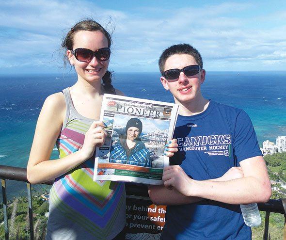 Lauren and Braeden Logan in Hawaii