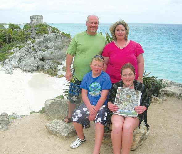 Dave, Renice, Jared and Jazlyn Oaks in Tulum, Mexico