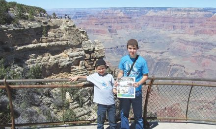 Logan and Tyler Powell at the Grand Canyon in Arizona