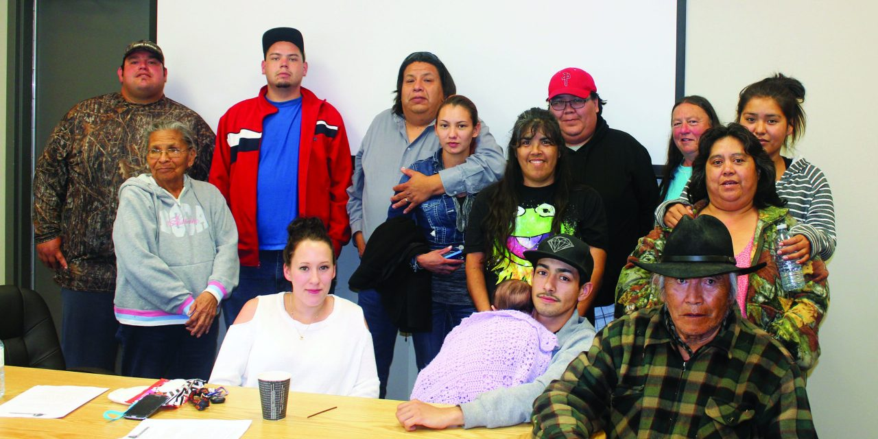 Shuswap Band members protest Chief