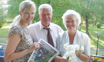 Rose-Marie Regitnig at the wedding of Kent Karlsson and Lisbeth Fagerholm in Sala, Sweden