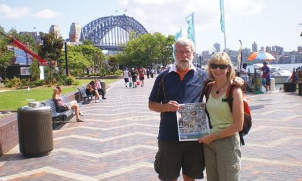 Christine and Tony Symonds in Australia