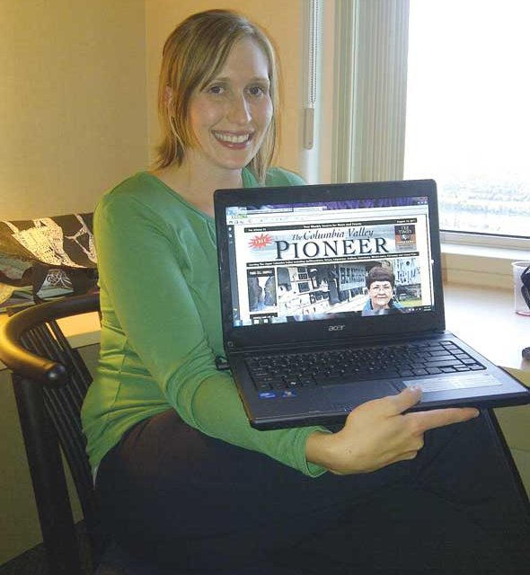 Jenn Tagg goes digital to keep up with the latest valley news from her hotel room in Kamloops, where she was staying for a teacher convention