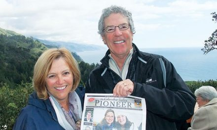 Rod and Christine Turnbull at Nepenthe, Big Sur, California