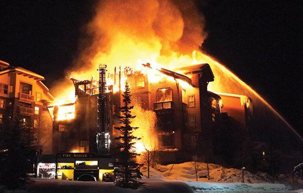 Fire rips through popular Panorama lodge