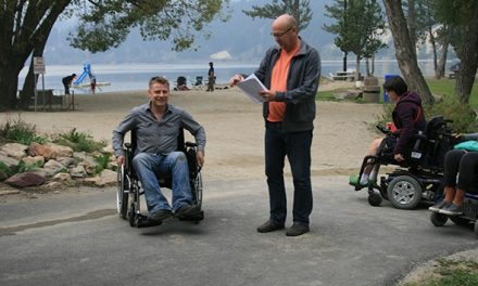 Taft tests wheelchair accessibility at Kinsmen