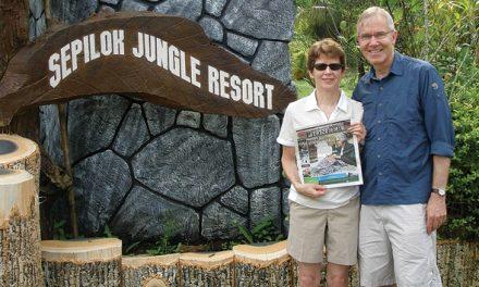 Ron and Carol-Anne Zawalykut in Borneo.