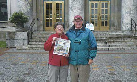 Bob and Marlene Depledge on a cruise in Juno, Alaska