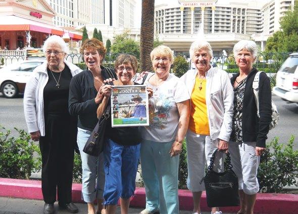 Betty Wood, Melva Barrault, Marlis Hess, Marg Hodson, Micky Hess and Dee Reber in Las Vegas, Nevada
