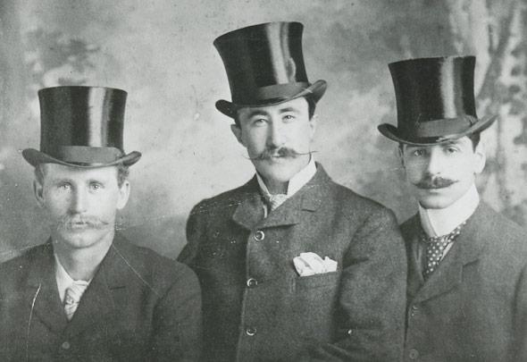 Moustached men