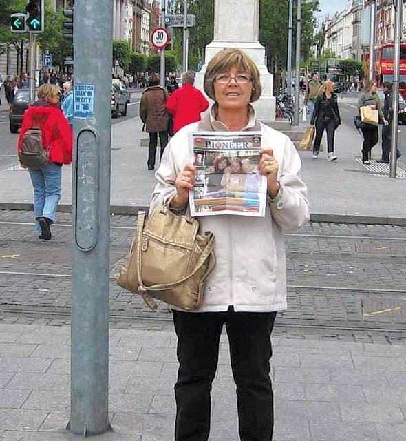 Patricia van Regen on OConnell Street, in Dublin.